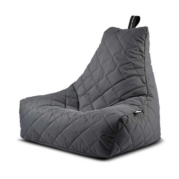 Mighty Quilted Bean Bag Chair - Grey
