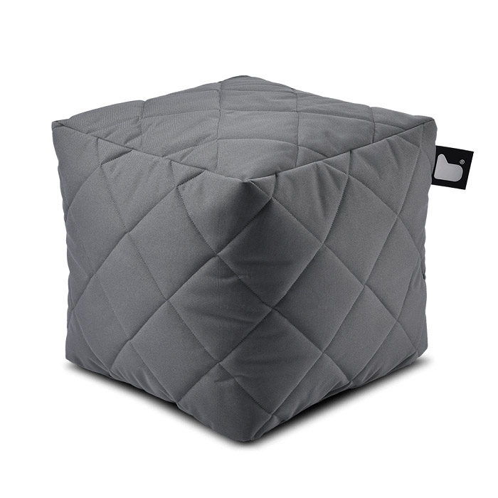 Outdoor Quilted Bean Box - Grey