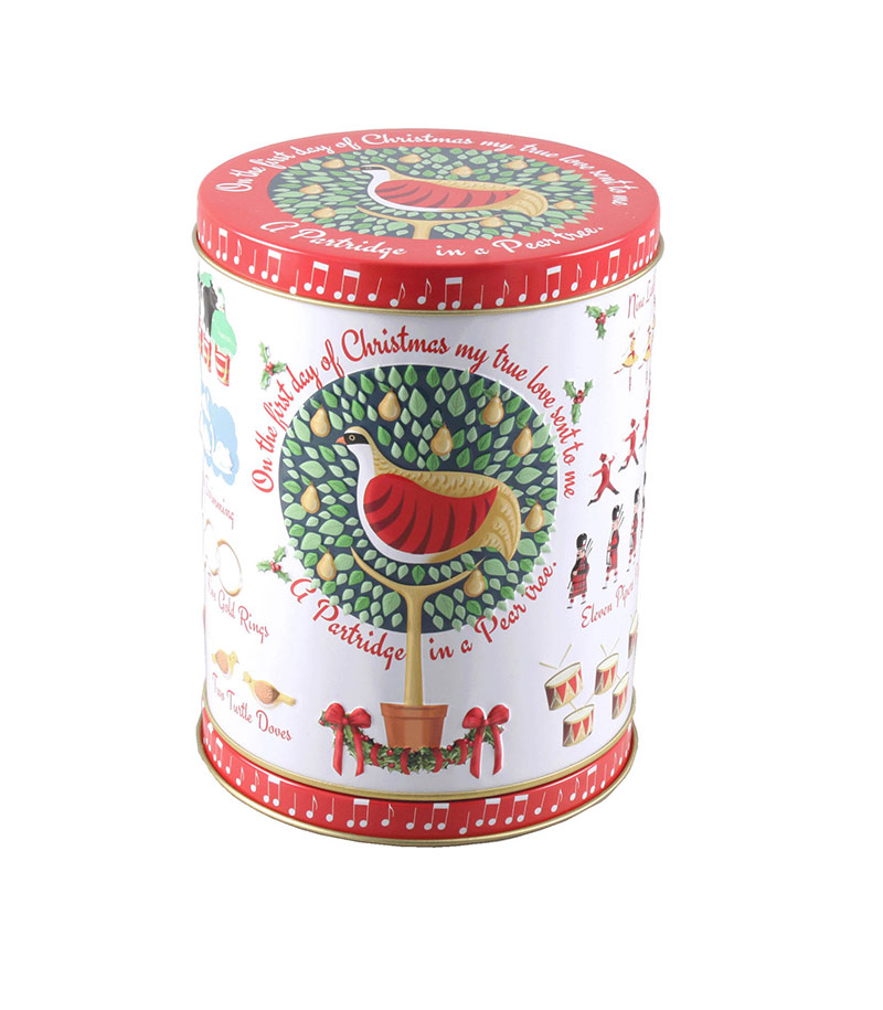 12 Days Christmas Rotating Biscuit Tin 150g