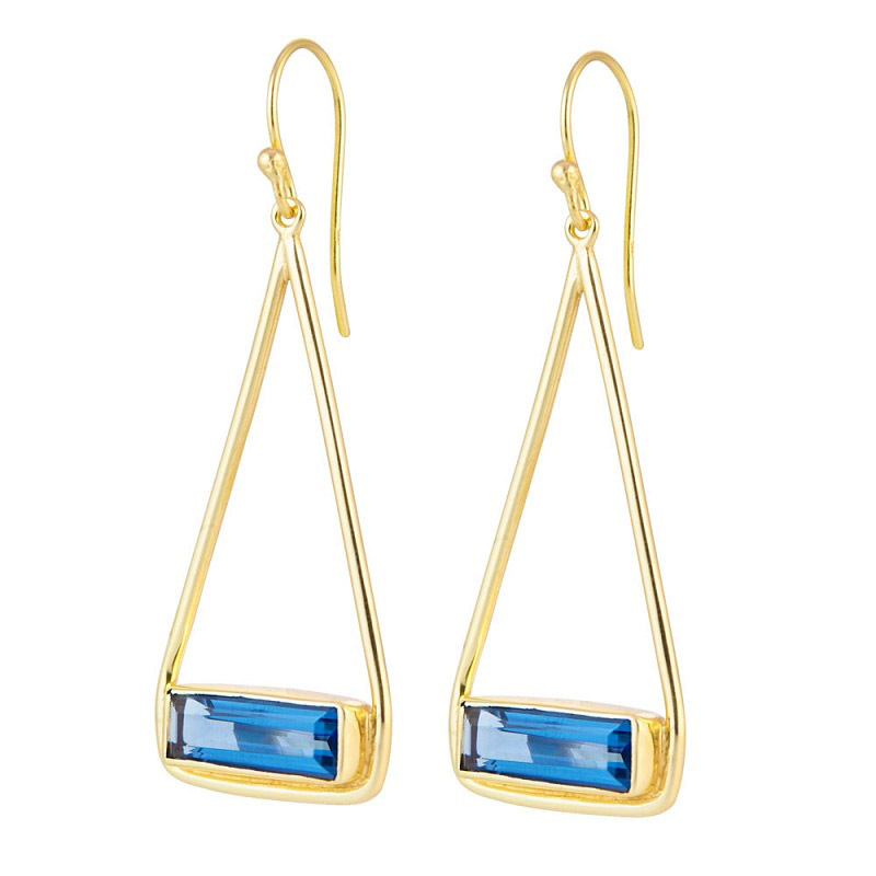Manhattan Swing Earring Gold - Lolite