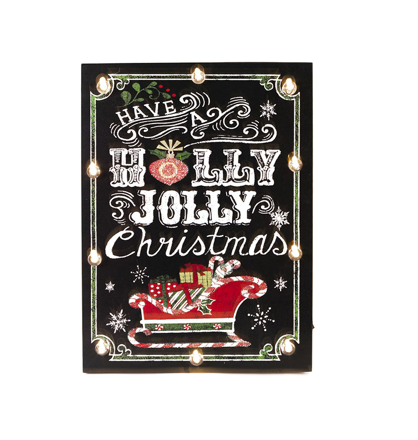 Holly Jolly Christmas LED Sign