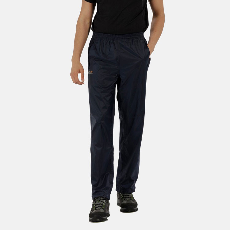 Men's Pack It Waterproof Overtrousers Navy - S