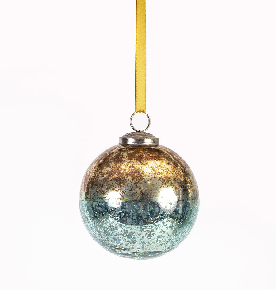 Glass Bauble Two Tone