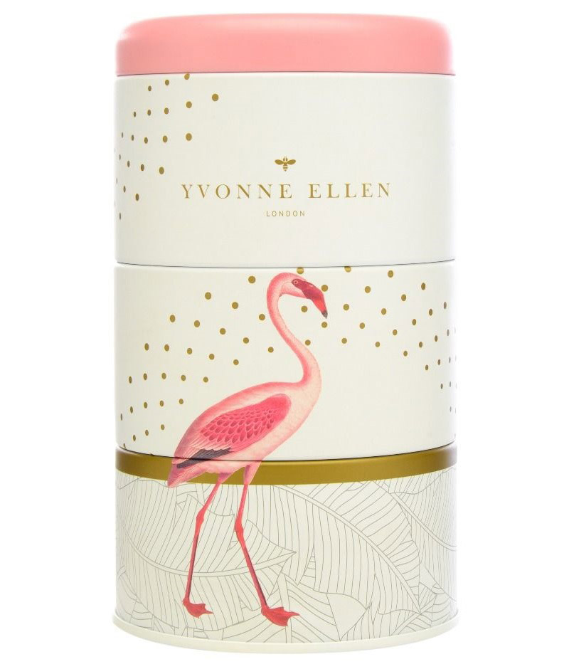 Fancy Flamingo - Stacking Candle Tins (Set Of 3)