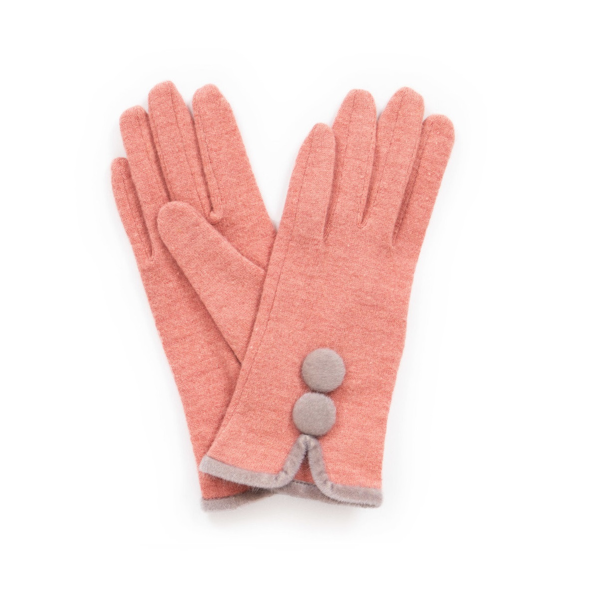 Christabel Wool Gloves in Candy