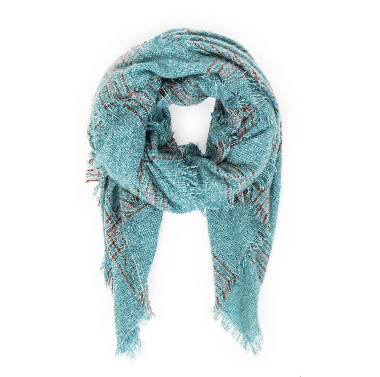 Moira Scarf in Teal Mix