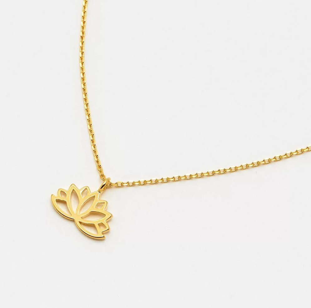 Lotus Flower Cut Out Necklace