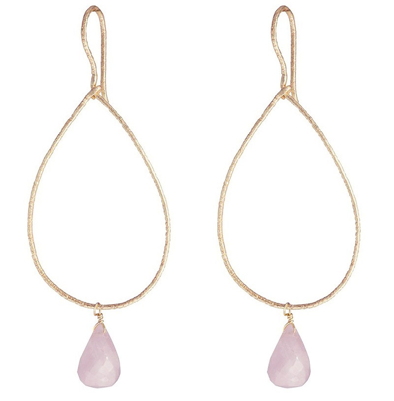 Boho Sway Me Earring - Rose Quartz