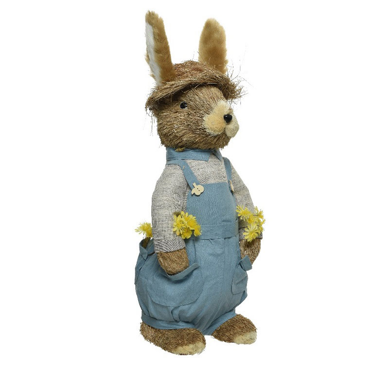 Grass Easter Bunny with Hat 76cm