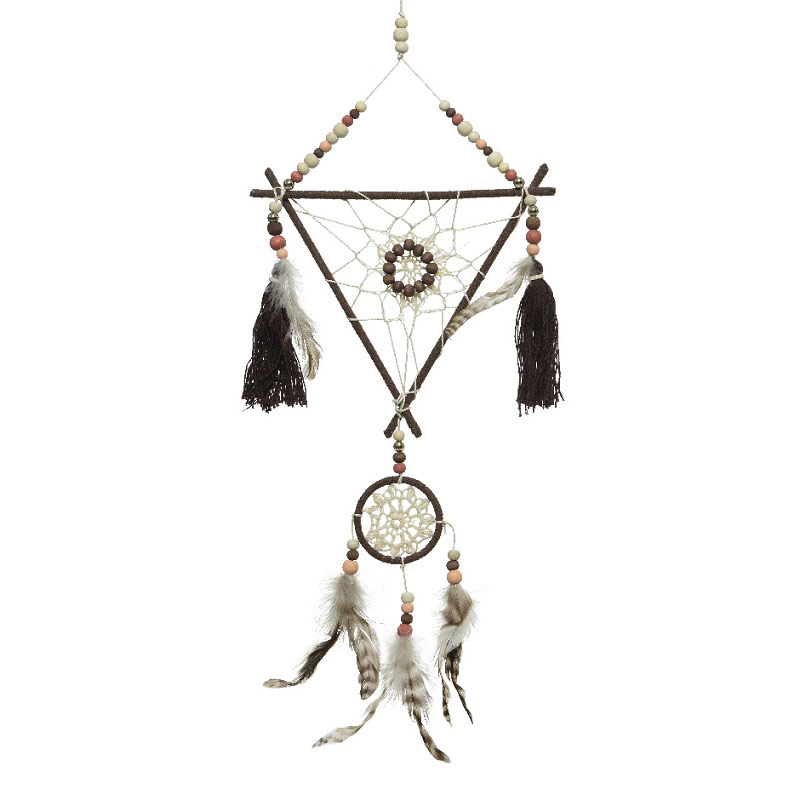 Jute & Chicken Feather Dreamcatcher