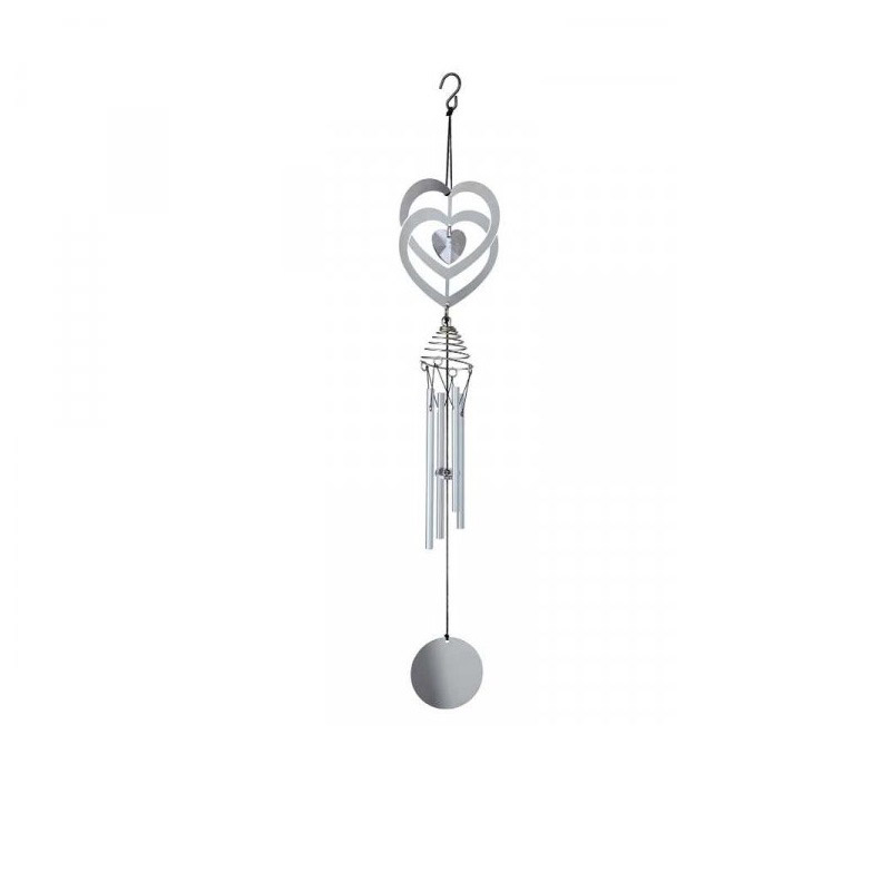 Crystal Heart Windchime - 51cm