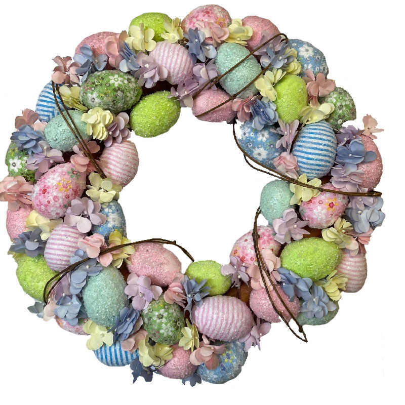 Pastel Large Egg Wreath 40cm