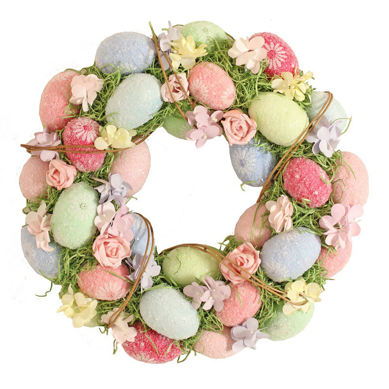 Pastel Medium Egg Wreath 34cm