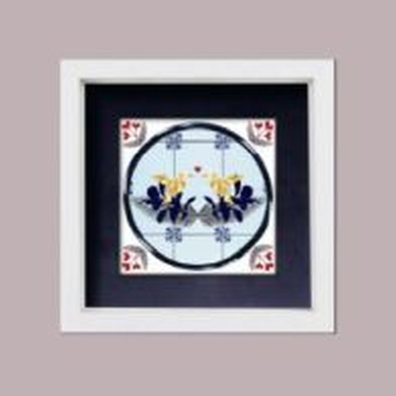 Love Birds - Framed Tile