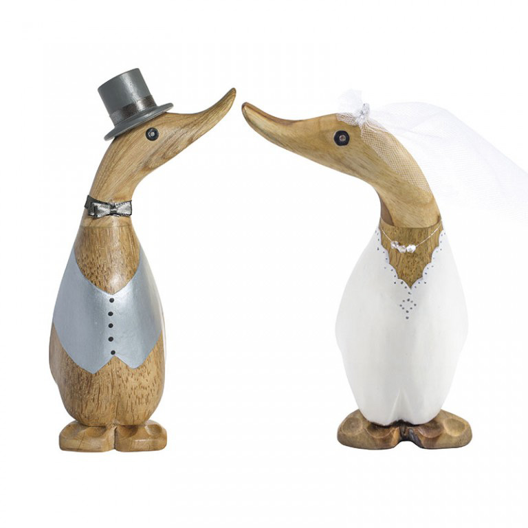 Wooden Wedding Ducklings