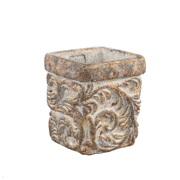 Rosana Antique Cement Pattern Pot (XXS)