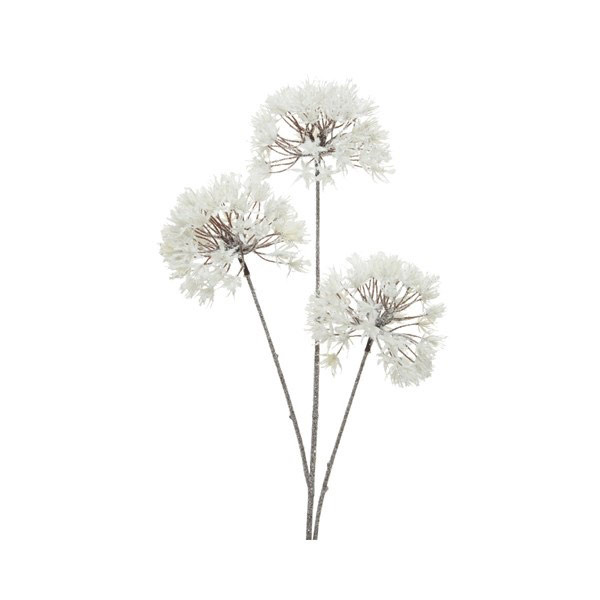 Flower Ball Spray White Frost 80cm