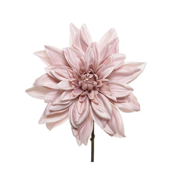 Blush Pink Dahlia on Stem 67cm