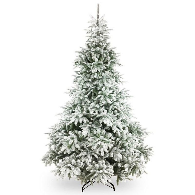 Frosted Andorra Fir Hinged 7.5ft Feel Real Artificial Tree