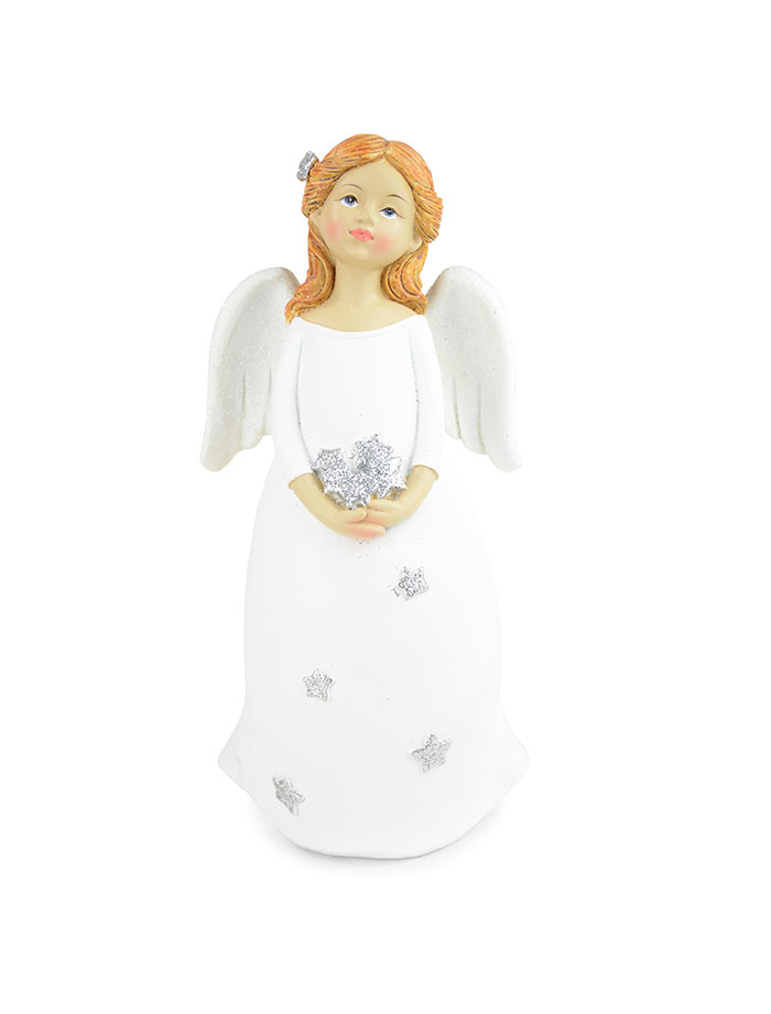 Angel standing with star/heart