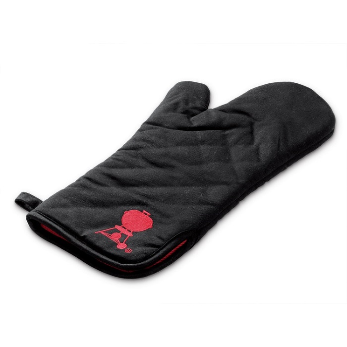 Barbecue Mitt - Black With Red Kettle