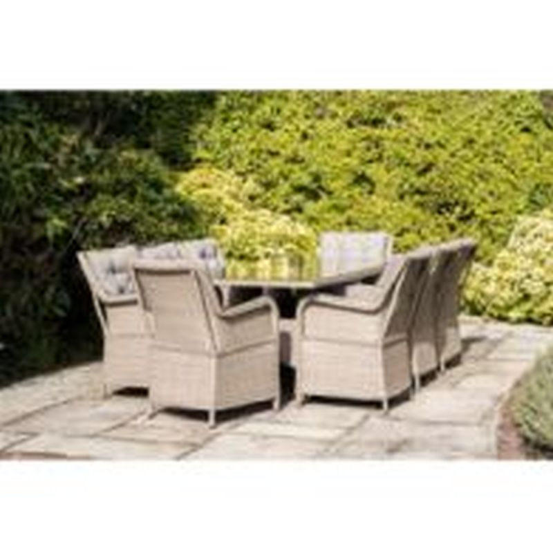 Belize 8 Seat Set with Luca Cantilever Parasol Grey 3m