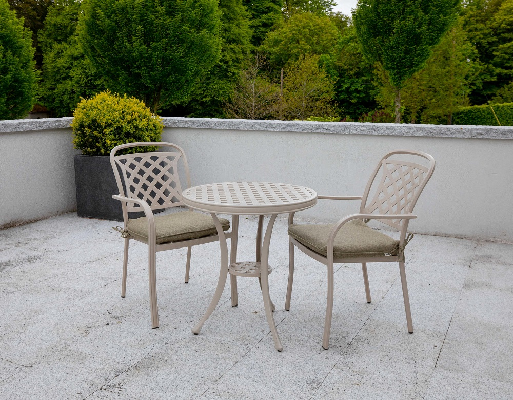 Berkeley Bistro Set Sandstone/Wheatgrass