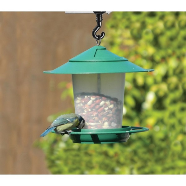 Lantern Bird Seed & Nut Feeder Green