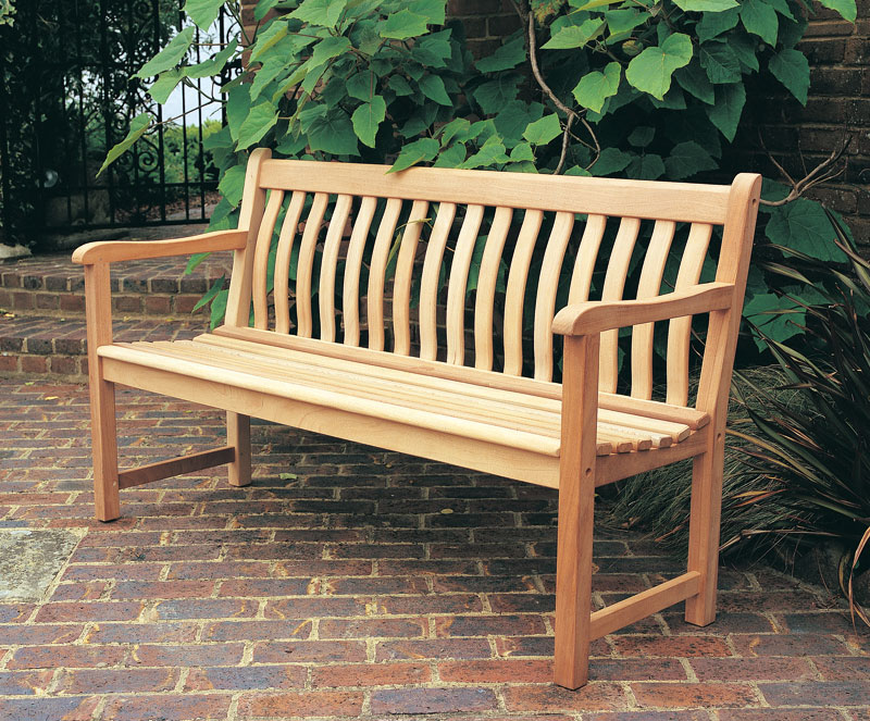 Mahogany Broadfield 5ft Bench Curved