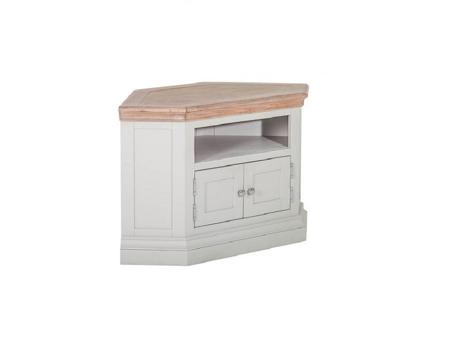 Corner TV Unit with 2 Doors & 2 Shelves