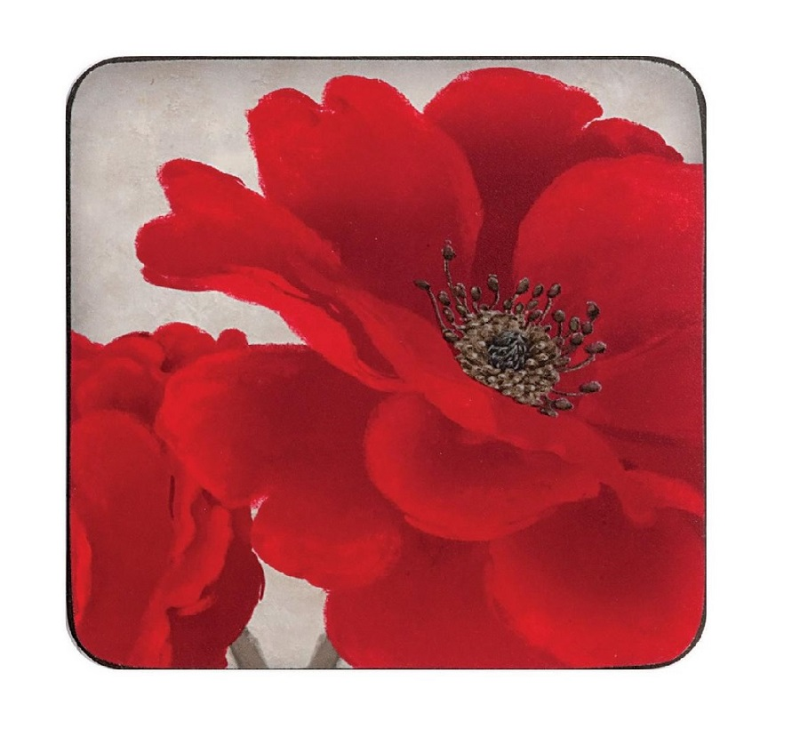 Crimson Bloom - Coasters x 4