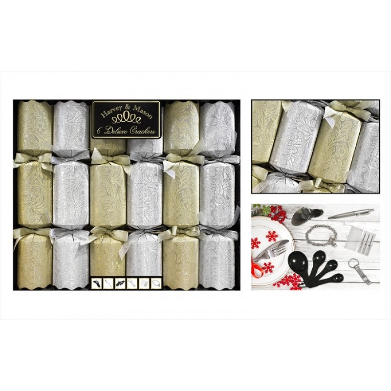 Deluxe Gold & Silver Crackers (6)