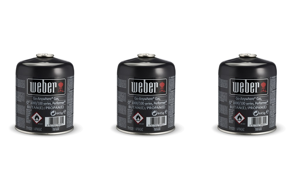 Weber® Disposable Gas Canister Triple Pack (3 x 445g)