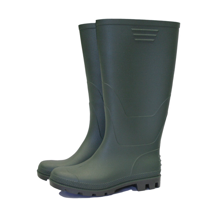 Essential Full Length Wellington Boots Green - Size 3