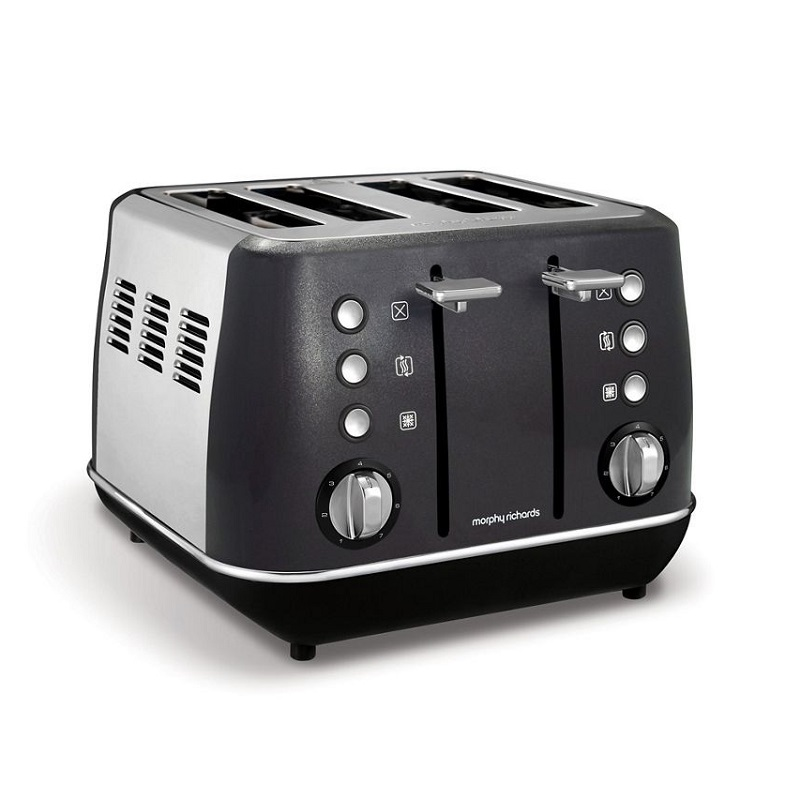 Evoke 4 Slice Toaster Black