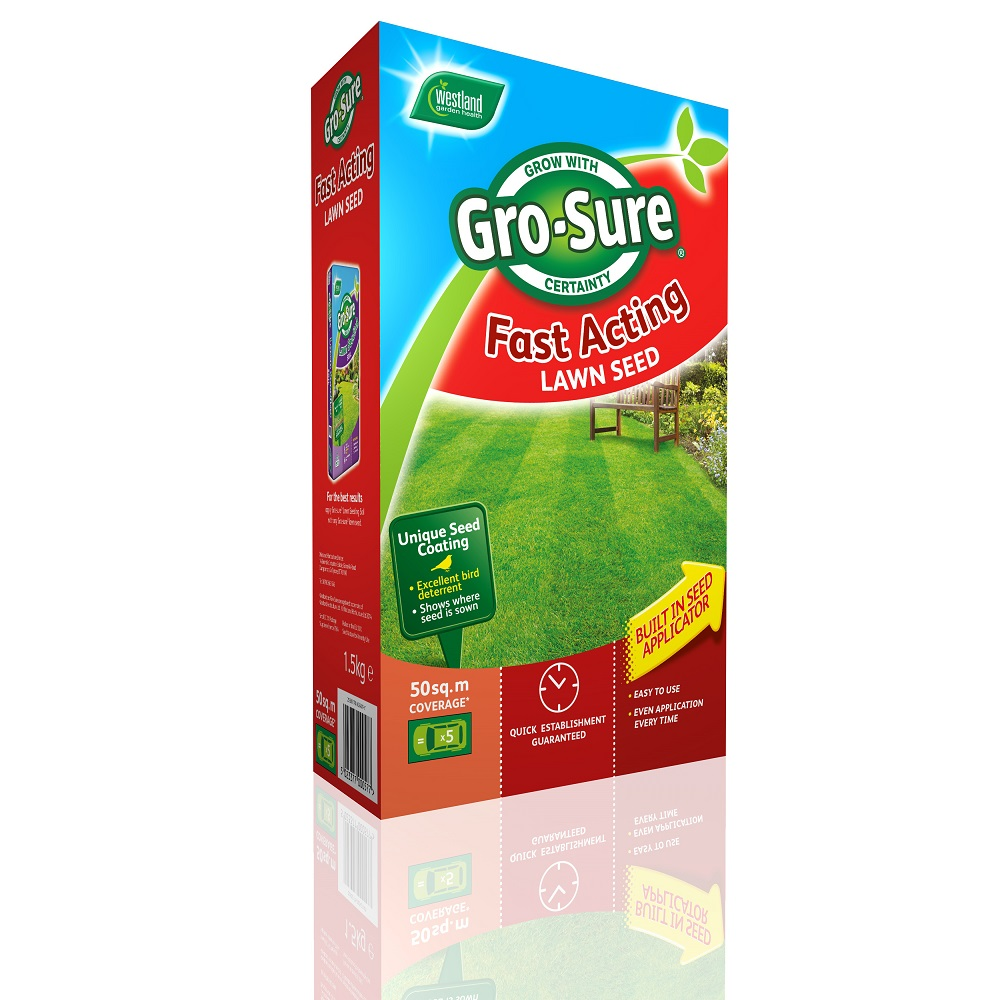 Gro-Sure Fast Acting Lawn Seed 50m²