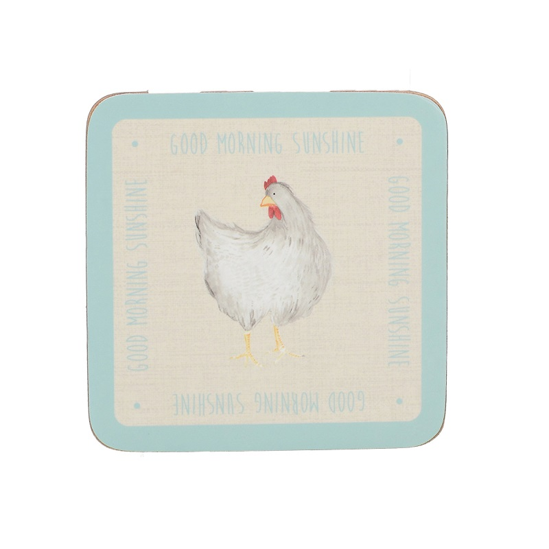 Feather Lane Set Of 6 Premium Coasters