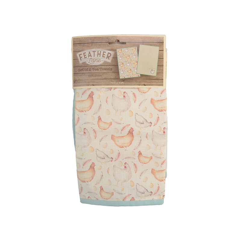Feather Lane Set Of 2 Tea Towels