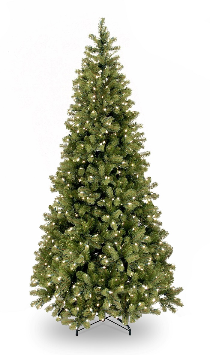 Feel-Real Bayberry Slim Pre-lit Tree 7.5ft