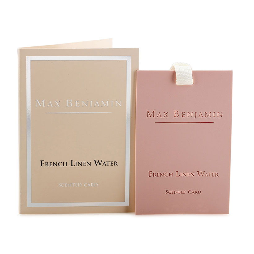 French Linen Water Scented Card - Soft Floral