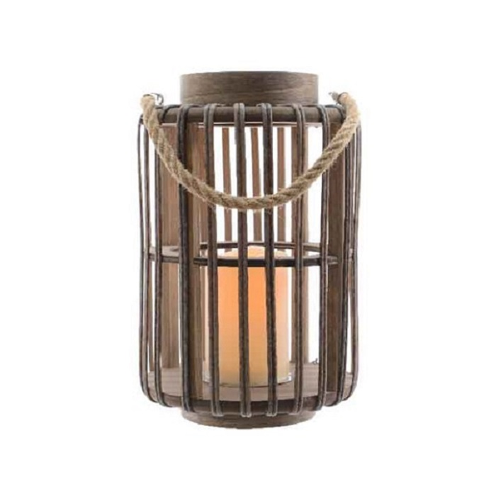 LED Jungle Lantern Dark Brown