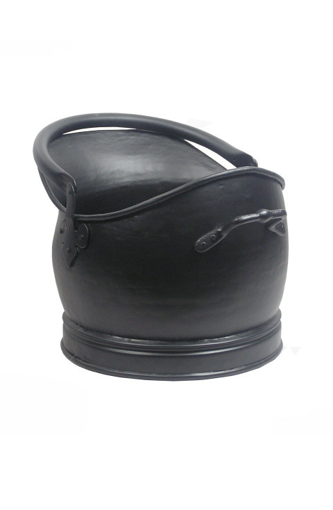 Medium Black Traditional Coal Bucket