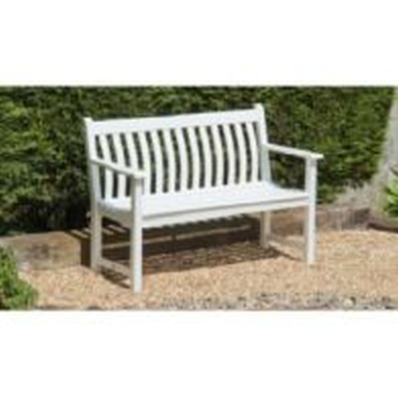 New England White Broadfield Bench 4ft