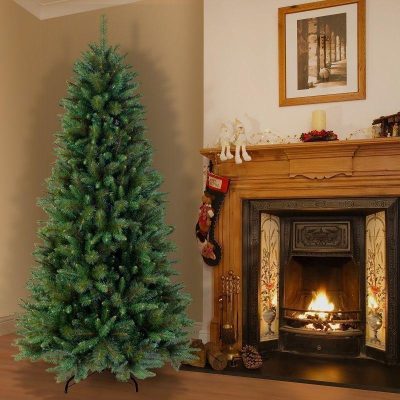 Christmas Tree Garden Ridge: Rocky Ridge Slim Pine Hinged 9ft