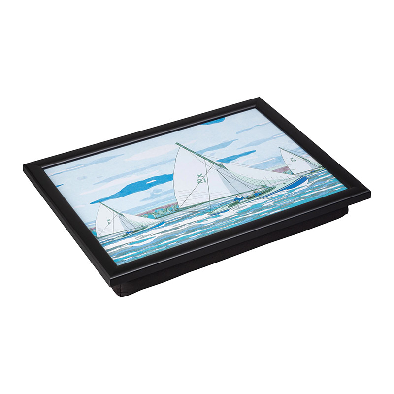 Denby Sailing Laptray With Black Edge