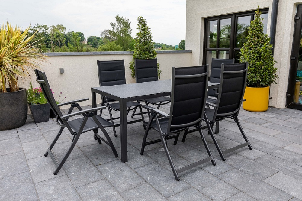 Seville 6 Seat Rectangle Dining Set