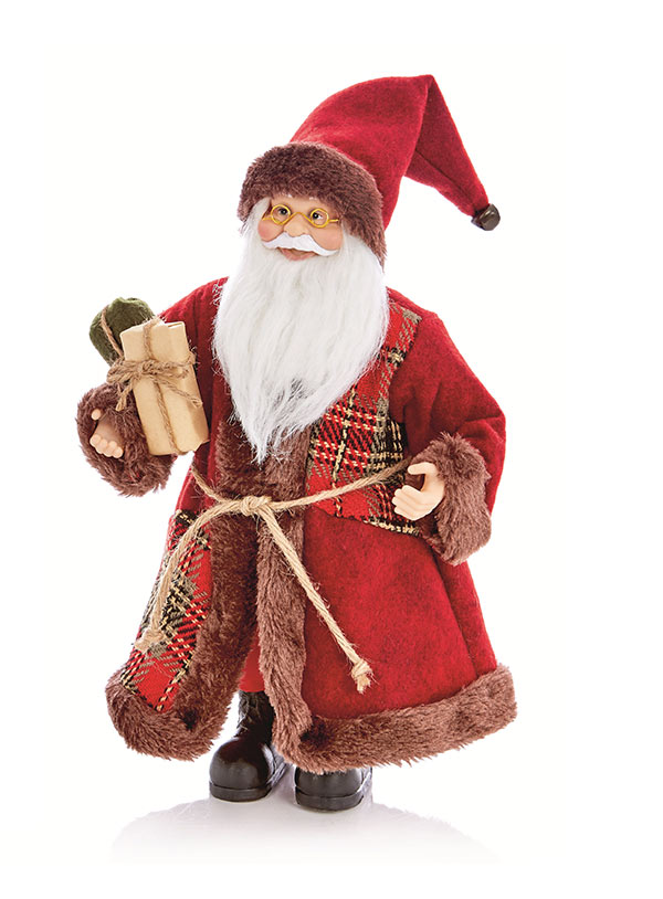 Standing Santa with Glasses 30cm