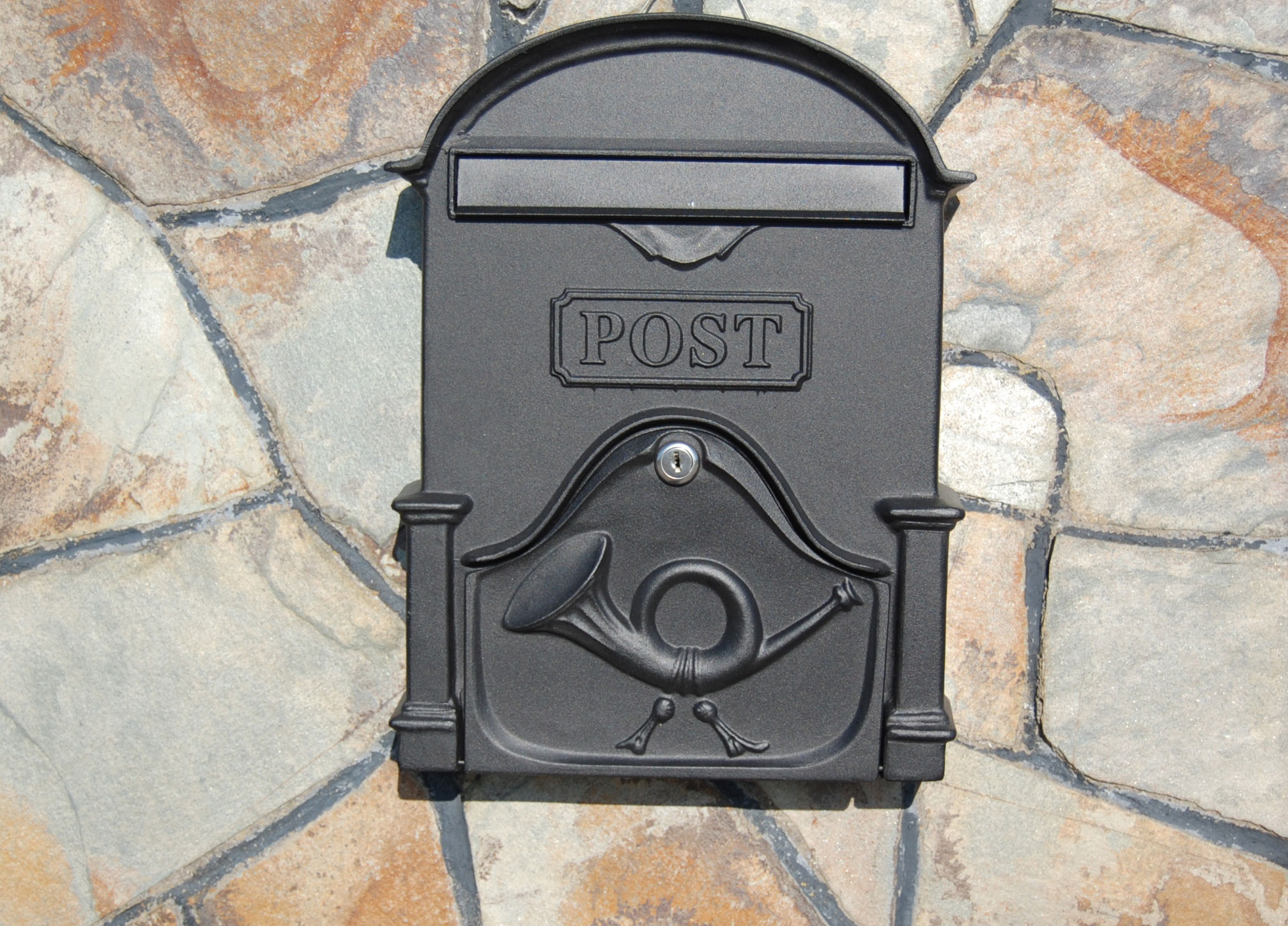 The Brosna A4 Post Box - Graphite Black