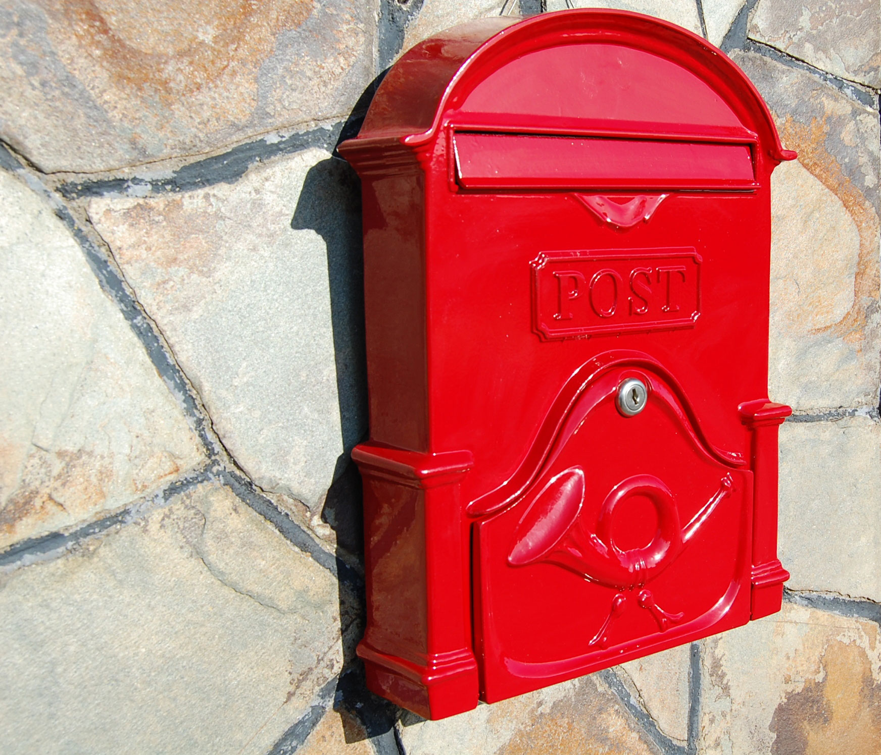 The Brosna A4 Post Box - Ruby Red