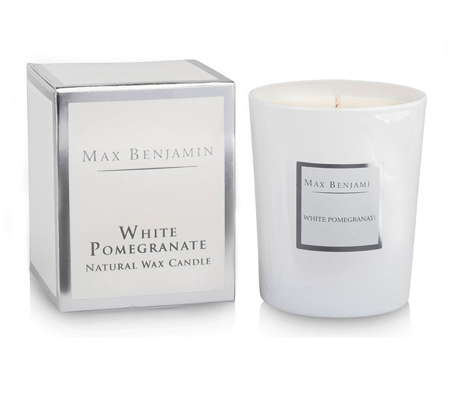 White Pomegranate Scented Candle 190g
